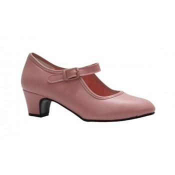 Zapato de Flamenca Rosa