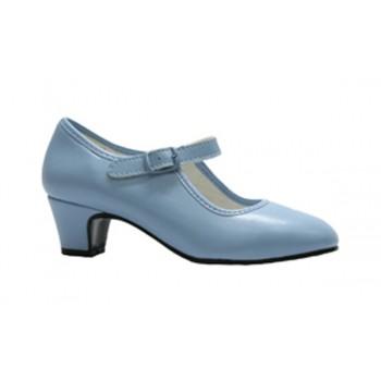 Zapato de Flamenca Celeste