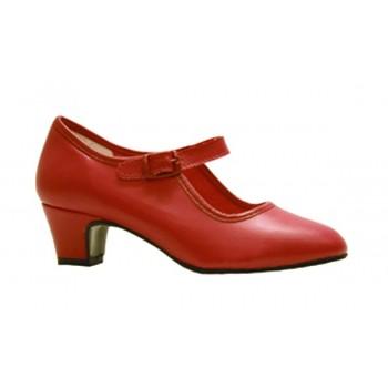Zapato de Flamenca Rojo Coral