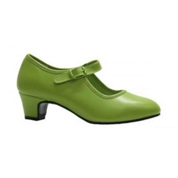 Zapato de Flamenca Pistacho