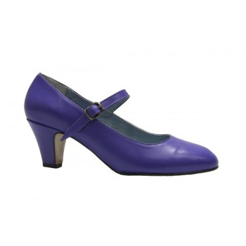 Zapato Flamenca Piel morado