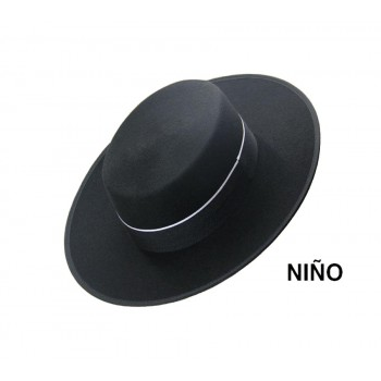 Sombrero Niño Lana Negro