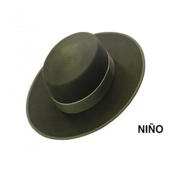 Sombrero Niño Lana Verde Kaki