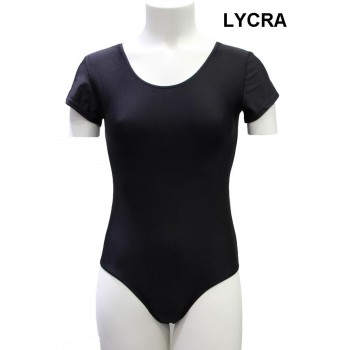 Black Jersey Short Sleeve Lady Lycra