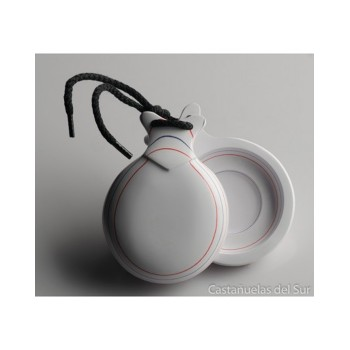 Castanets Caprice White Glass Double Box