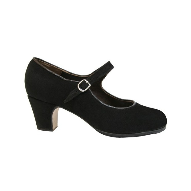 Professional Black Suede with Buckle