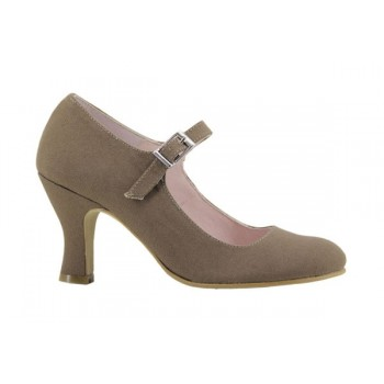 Taupe Flamenco Canvas Shoe