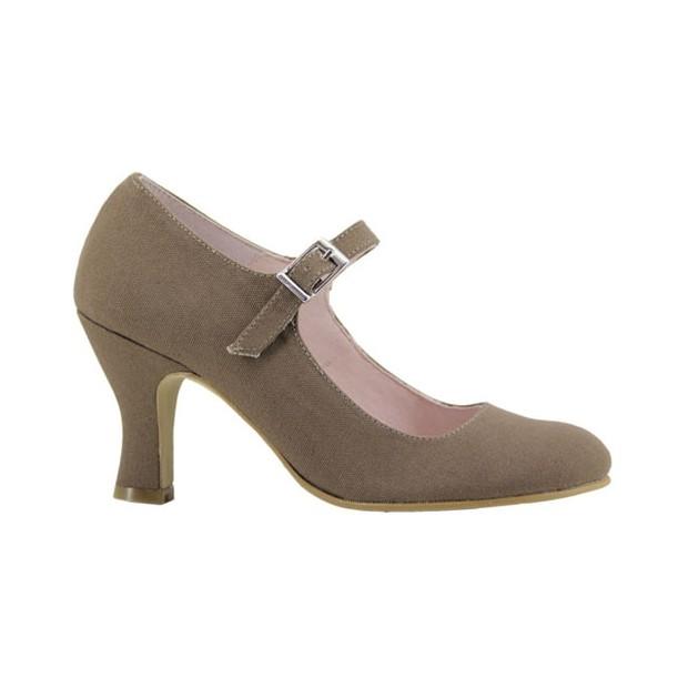 Taupe Flamenco Canvas Shoe