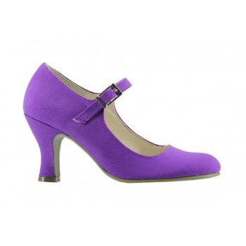 Purple Canvas Flamenco Shoe