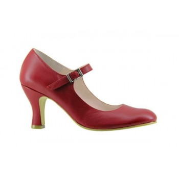 Red Leather Flamenco Shoe