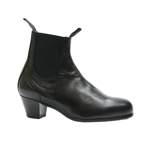 Black Leather Professional Flamenco Boot