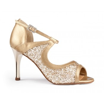 Shoe for Ballroom Combined Gold