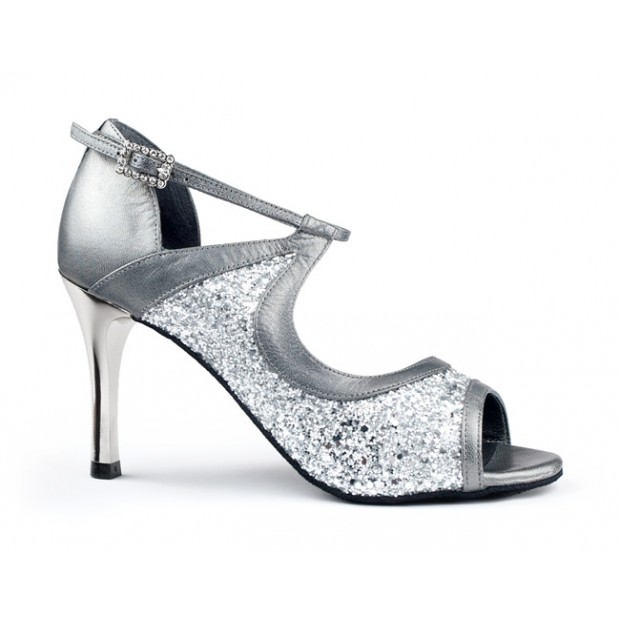 Shoe for Ballroom Combined Silver