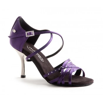Purple Satin Ballroom Dance Shoe