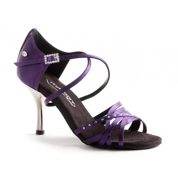 Purple Satin Ballroom Dance Shoe