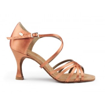 Dark Bronze Satin Ballroom Dance Shoe
