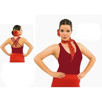 Cherry Flamenco Body Cross Straps
