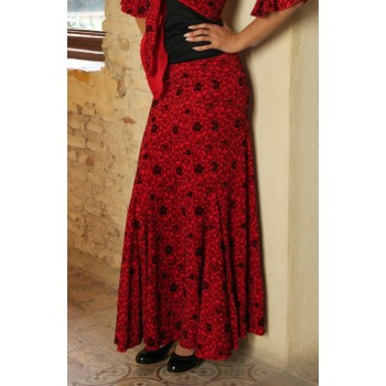 Red Capote Flamenco Skirt