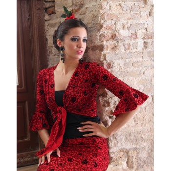 Cárdigan Flamenco Rojo Estampado