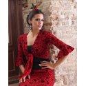 Cárdigan Flamenco Rojo Estampado