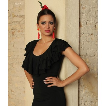 Black Flamenco Body 3 Ruffles