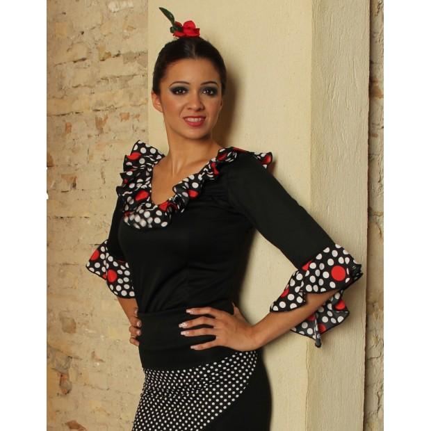 Black Flamenco Top Flyers