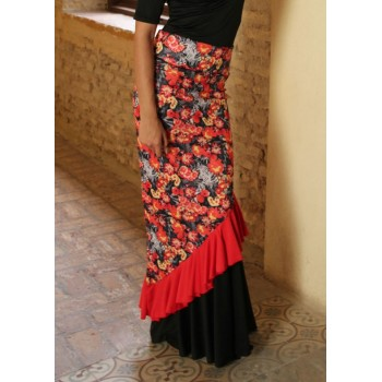 Floral Flamenco Skirt