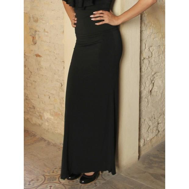 Black Flamenco Skirt Andújar with Fajín