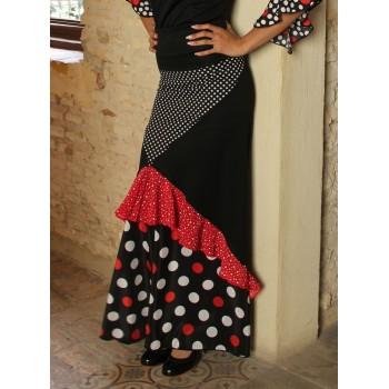 Flamenco Combinado de Lunares Skirt
