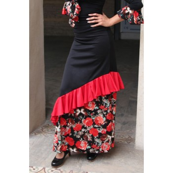 Black Pinzón Flamenco Skirt