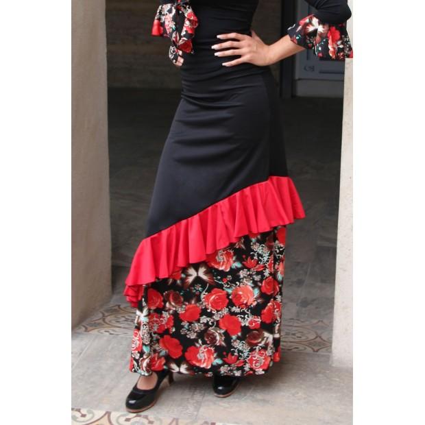 Black Pinzón Flamenco Skirt