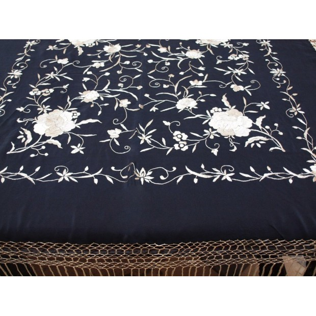 Hand embroidered shawl