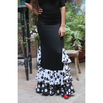 Flamenco Black Flared Skirt