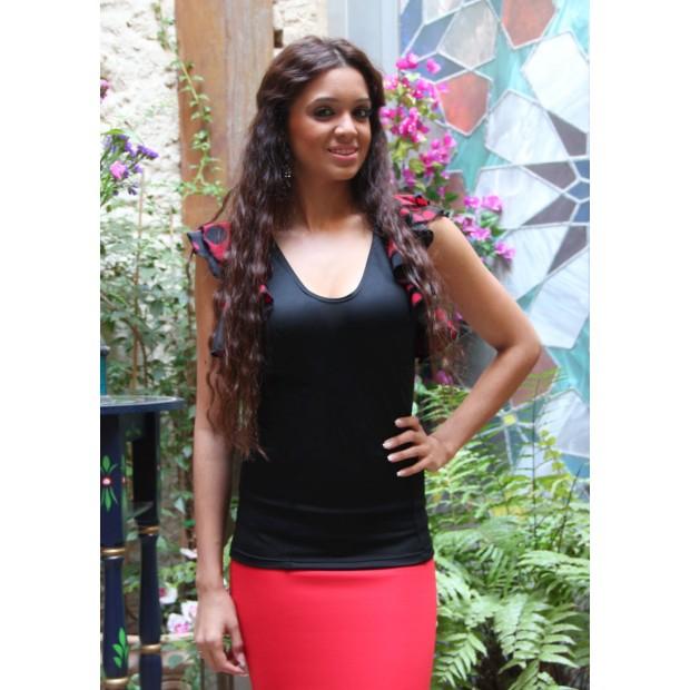 Black Flamenco Body Ruffles Sisas