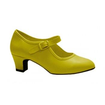 Flamenco shoe Yellow Leatherette