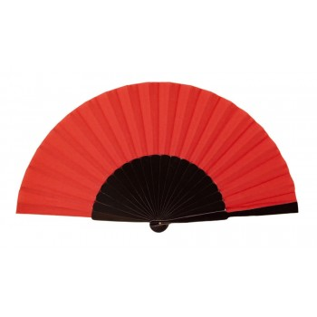 Black Red Pericón wooden hand-held fan (31 cm)