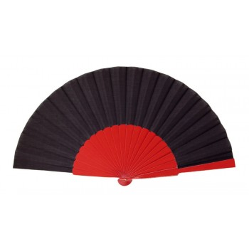 Red Black Pericón wooden hand-held fan (31 cm)
