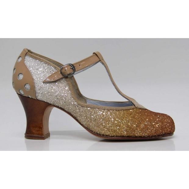 Professional Flamenco Dance Shoe Glitter