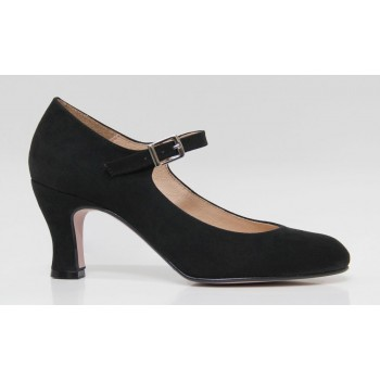 Flamenco Shoe Black Synthetic Suede