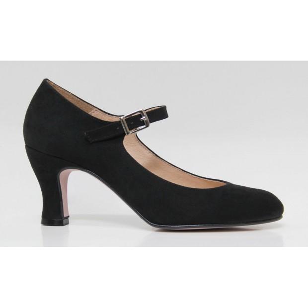 Black Suede Flamenca Shoe