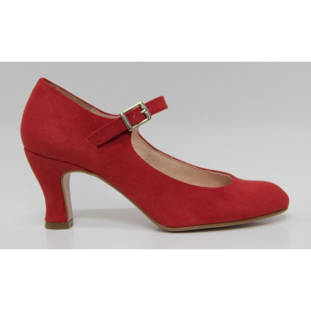 Red Flamenco Suede Shoe
