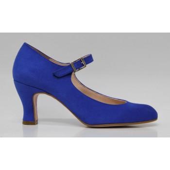 Flamenco Shoe Synthetic Suede Blue