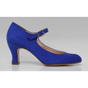 Flamenco Shoe Synthetic Suede Blue