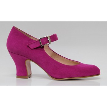 Flamenco Shoes Antelina Fuchsia