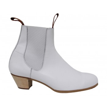White Leather Flamenco Boot 34/46