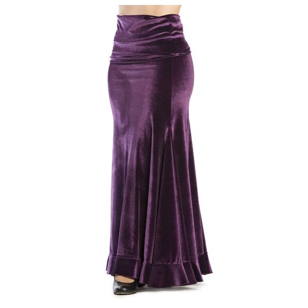 Flamenco Skirt Lombardos Velvet Purple