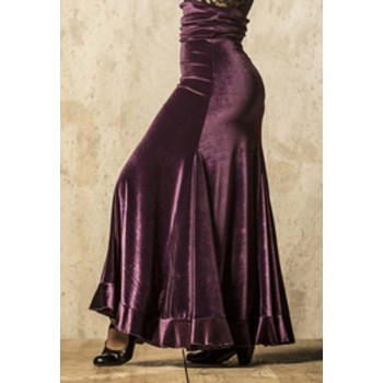 Flamenco Skirt Lombardos Velvet Purple