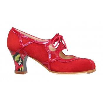 Professional Red Suede and Live in Red Patent Leather with Laces