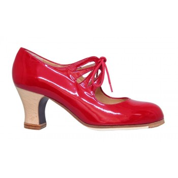 Red Patent Leather Flamenco Dance Shoe
