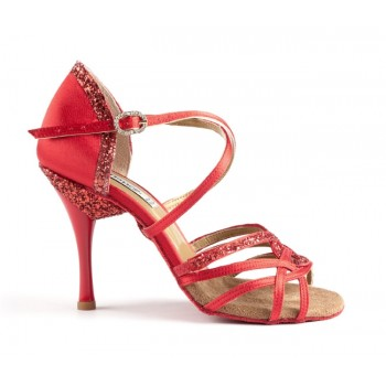 Red Combined Ballroom Shoe